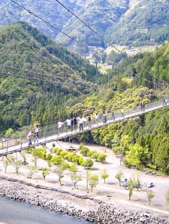 十津川村 谷瀬の吊り橋