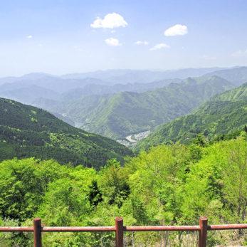 十津川村 玉置山展望台からの景色
